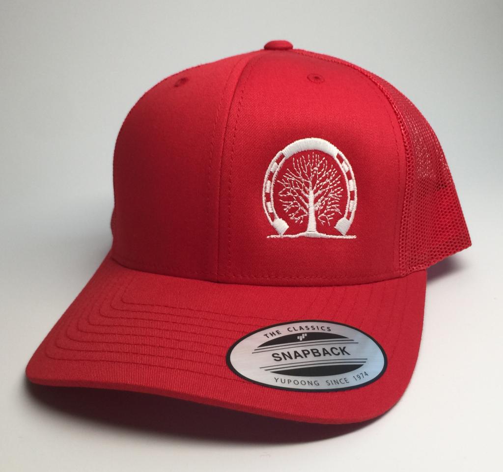 Royal Red SNAPBACK hat reincut