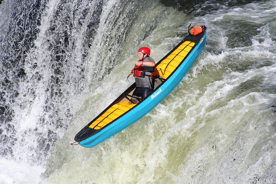 kayaking in harsh water conditions