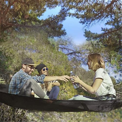 multi-person portable hammock as a tent